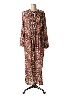 Robe longue marron EMA BLUE'S pour femme