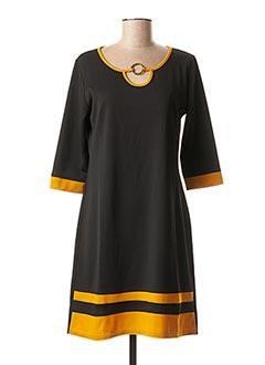 Robe mi-longue jaune HALOGENE pour femme