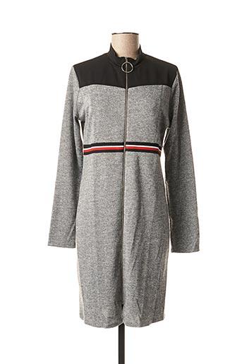 Robe mi-longue gris BY MEG pour femme