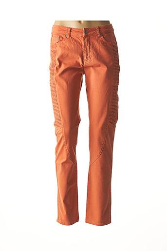 Pantalon casual orange JENSEN pour femme