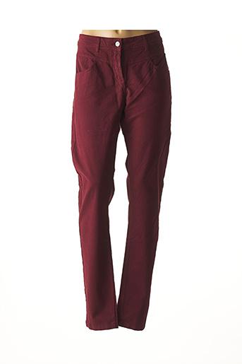 Pantalon casual rouge MAE MAHE pour femme