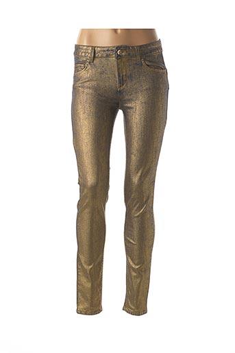 Jeans coupe slim jaune LIU JO pour femme