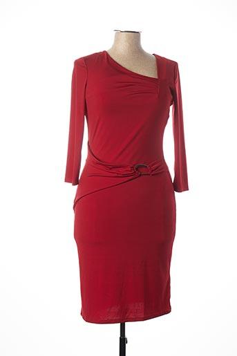 Robe mi-longue rouge JULIE GUERLANDE pour femme