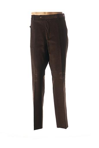 Pantalon casual marron COSSERAT pour homme