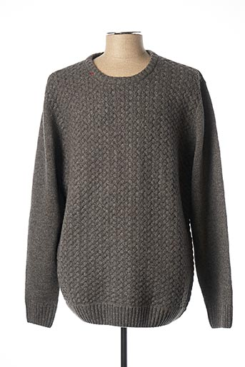Pull col rond gris LEE COOPER pour homme