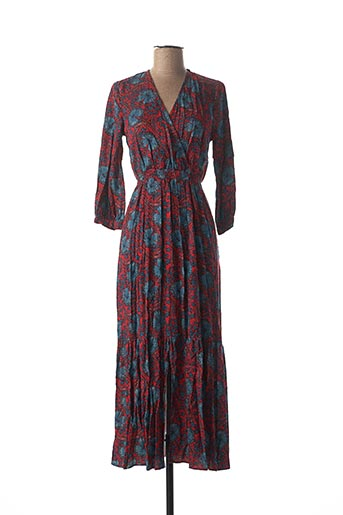 Robe longue rouge ANGE pour femme