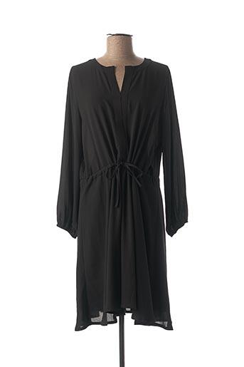 Robe mi-longue noir ADONICE pour femme