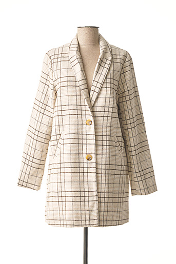 Manteau long beige IMUA pour femme