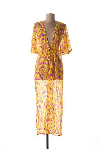 Robe longue jaune ANTIGEL pour femme