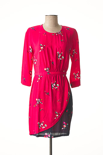 Robe mi-longue rose IDANO pour femme