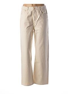 Jeans coupe large beige DES PETITS HAUTS pour femme