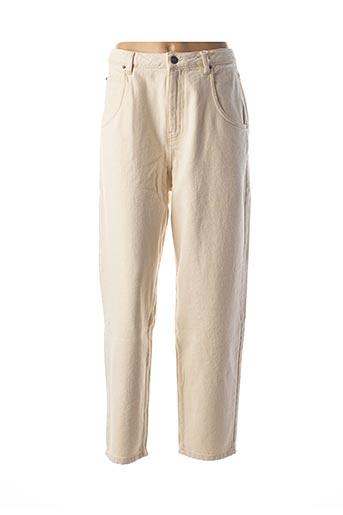 Pantalon 7/8 beige AMERICAN VINTAGE pour femme