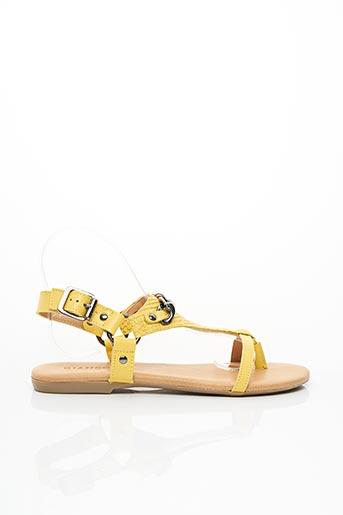 Tongs jaune BIANCO. pour femme
