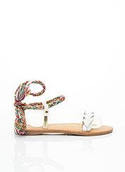 Sandales/Nu pieds blanc LES TROPEZIENNES PAR M.BELARBI pour femme seconde vue