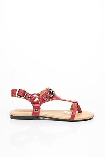 Sandales/Nu pieds rouge BIANCO. pour femme