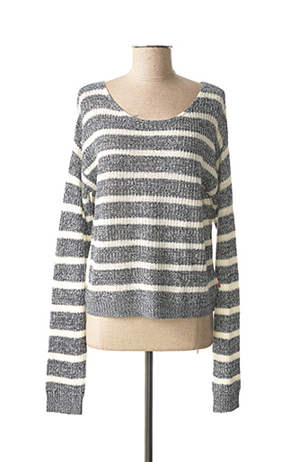 Pull col rond gris PETROL INDUSTRIES pour fille