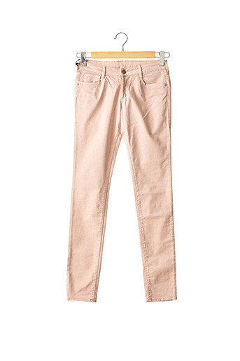 Jeans coupe slim rose LE TEMPS DES CERISES pour fille