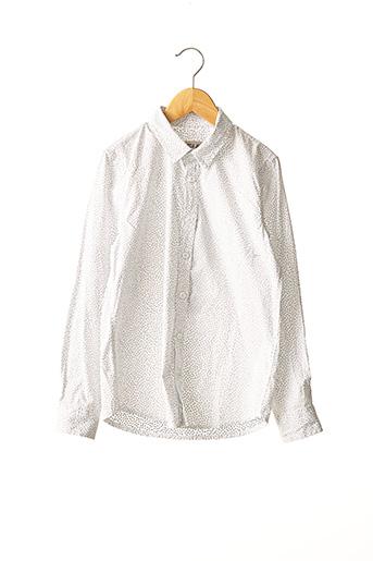 Chemise manches longues blanc GARCIA pour garçon