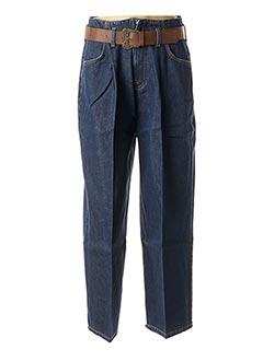 Jeans boyfriend bleu LA FEE MARABOUTEE pour femme