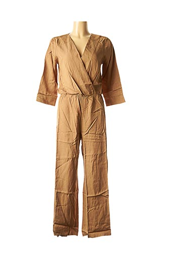 Combi-pantalon marron LA FEE MARABOUTEE pour femme
