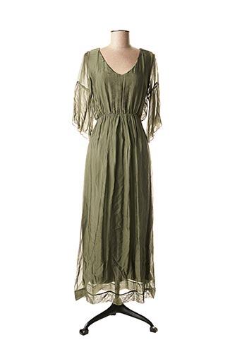 Robe longue vert LA FEE MARABOUTEE pour femme