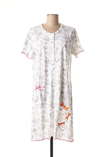 Chemise de nuit blanc ROSE POMME pour femme