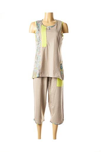 Pyjama beige ROSE POMME pour femme