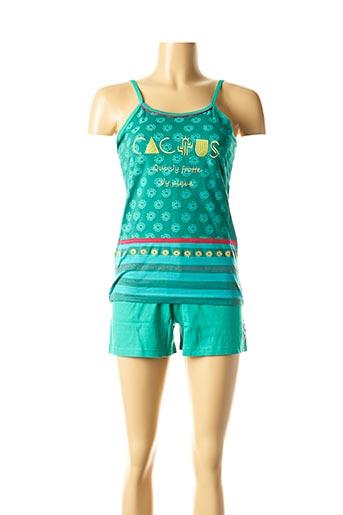Pyjashort vert ROSE POMME pour femme