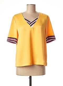 Blouse manches courtes jaune SCOTCH & SODA pour femme