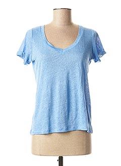 T-shirt manches courtes bleu MKT STUDIO pour femme
