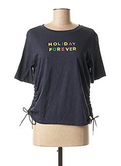 T-shirt manches courtes bleu SCOTCH & SODA pour femme