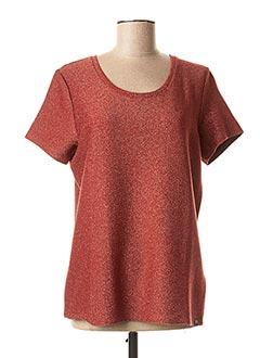 T-shirt manches courtes orange SCOTCH & SODA pour femme
