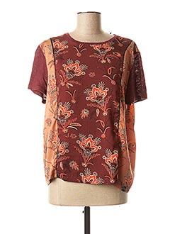 T-shirt manches courtes rouge SCOTCH & SODA pour femme