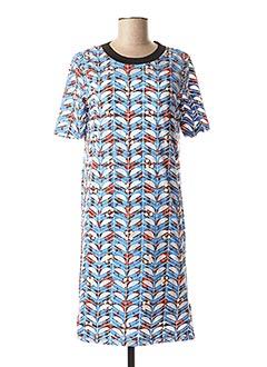 Robe courte bleu SCOTCH & SODA pour femme