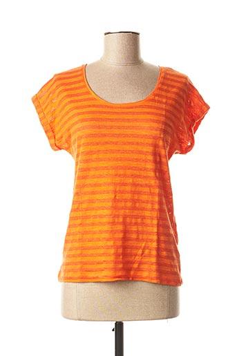T-shirt manches courtes orange HARRIS WILSON pour femme