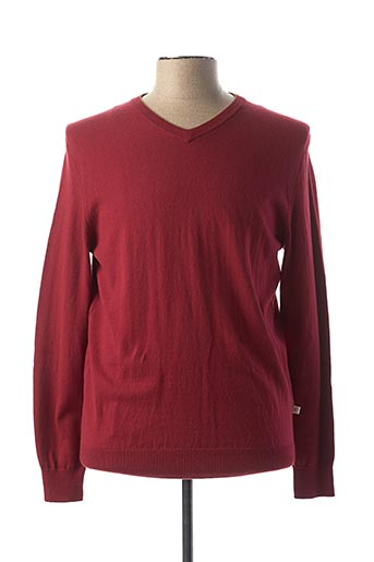 Pull col V rouge HARRIS WILSON pour homme