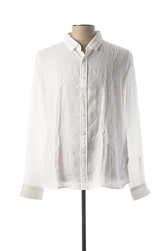 Chemise manches longues blanc HARRIS WILSON pour homme