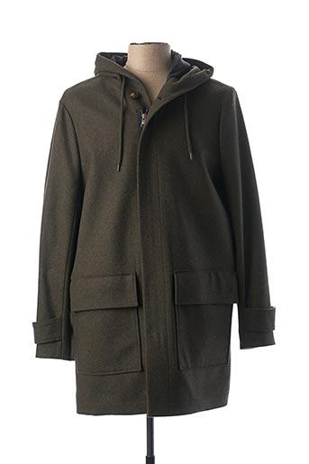 Manteau long vert HARRIS WILSON pour homme