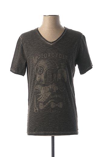 T-shirt manches courtes noir DAYTONA pour homme