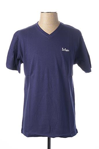 T-shirt manches courtes bleu LEE COOPER pour homme