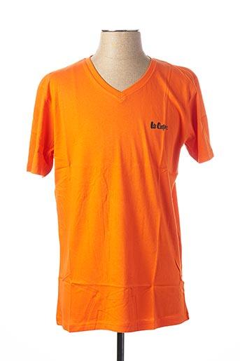 T-shirt manches courtes orange LEE COOPER pour homme