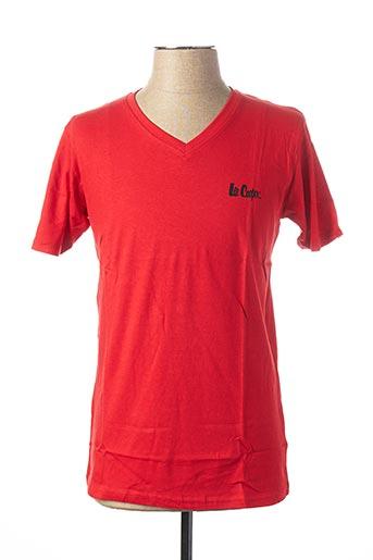 T-shirt manches courtes rouge LEE COOPER pour homme