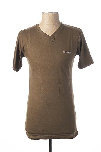 T-shirt manches courtes vert TED LAPIDUS pour homme