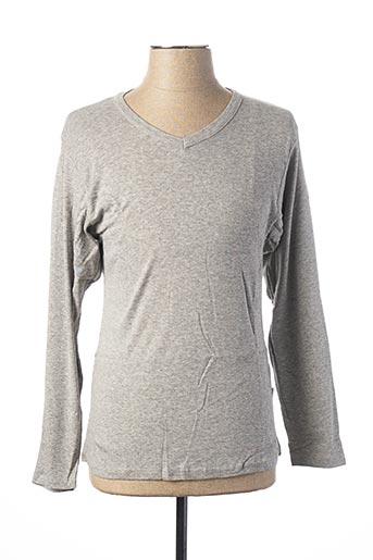 T-shirt manches longues gris CHRISTIAN LACROIX pour homme