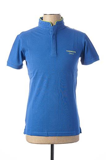 Polo manches courtes bleu TORRENTE pour homme