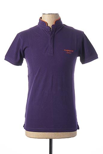 Polo manches courtes violet TORRENTE pour homme