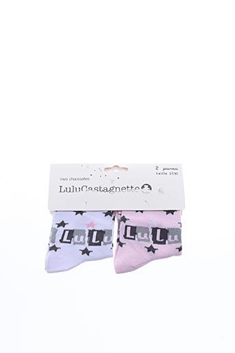Chaussettes blanc LULUCASTAGNETTE pour fille