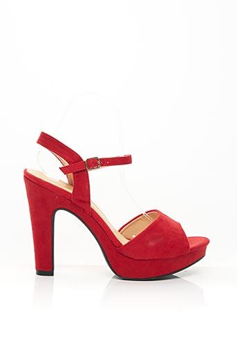 Sandales/Nu pieds rouge CINK-ME pour femme