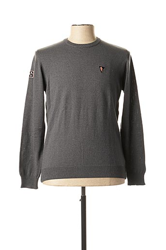 Pull col rond gris CAMBERABERO pour homme