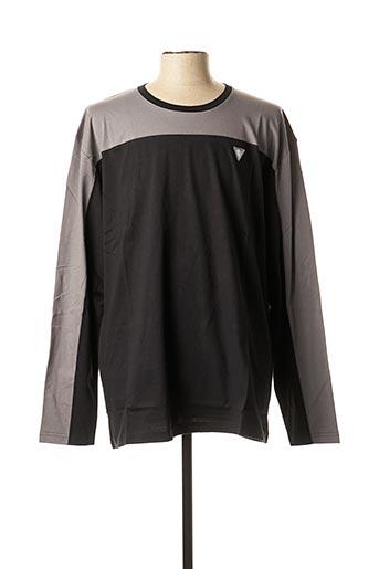 T-shirt manches longues noir CAMBERABERO pour homme